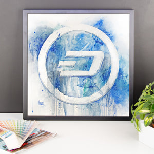 Dash framed watercolour
