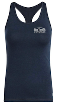 """The Tennis Congress"" Racer Women's Tank (Navy)"