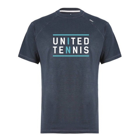 """United in Tennis"" Carrollton Performance Crew Men's Tee (Gunmetal)"