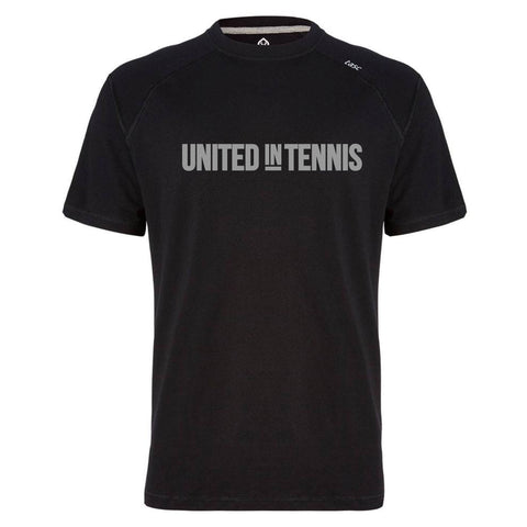 """United in Tennis"" Carrollton Performance Crew Men's Tee (Black)"
