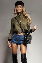 MILITARY BOMBER JACKET DRESS -AnnaFoxyCanada
