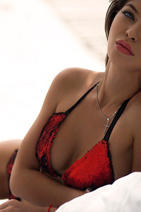 RED & BLACK / SWIMWEAR swimwear -AnnaFoxyCanada