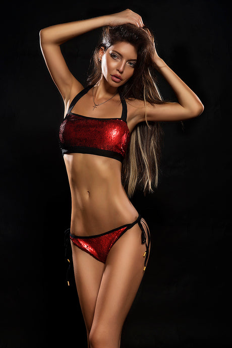 BANDO RED & BLACK / SWIMWEAR swimwear -AnnaFoxyCanada