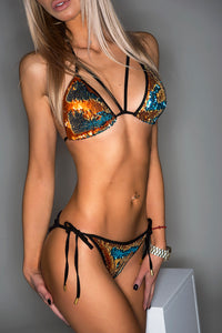ORANGE BLUE / SWIMWEAR swimwear -AnnaFoxyCanada