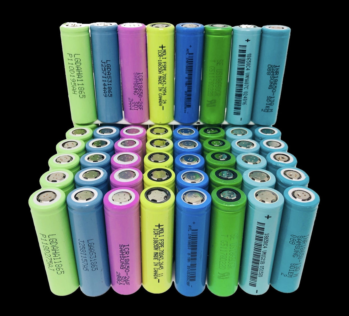 Tested 18650 Lithium Ion Capacity Cells from Modem Batteries
