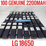 100 LG 18650 2200MAH LGDAS31865 CELLS LITHIUM ION MODEM BATTERIES