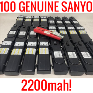 100 SANYO 18650 2200MAH UR18650A CELLS LITHIUM ION MODEM BATTERIES