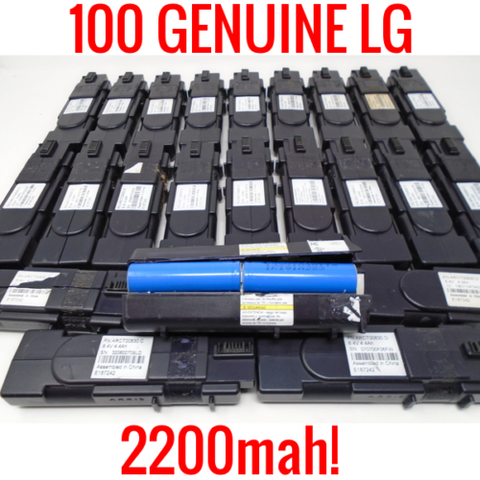 100 LG 18650 2200MAH LGDS318650 CELLS LITHIUM ION MODEM BATTERIES