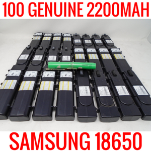 100 SAMSUNG 18650 2200MAH ICR18650-22F CELLS LITHIUM ION MODEM BATTERIES