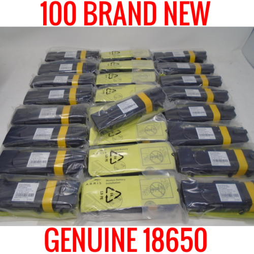 100 NEW IN ORIGINAL WRAPPER 18650 2200MAH CELLS LITHIUM ION MODEM BATTERIES SAMSUNG LG SANYO SONY