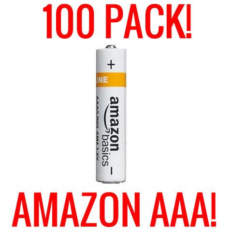 100 AAA AMAZON BASICS ALKALINE BATTERIES