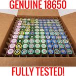 100 1601-1800mah Fully Tested 18650 Batteries Capacity Cells