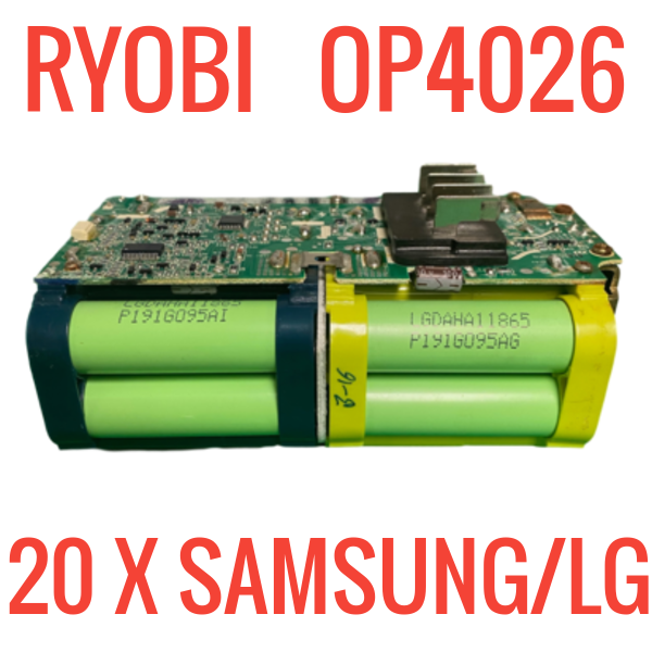 RYOBI OP4026 36V BATTERIES FOR PARTS/REPAIR