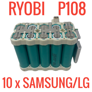 Ryobi P108 18V Batteries for Parts & Repair