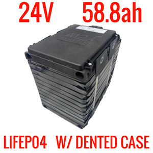24V 58.8ah 1.35kWh LIFEPO4 A123 MODULE 7s with DENTED CASE**