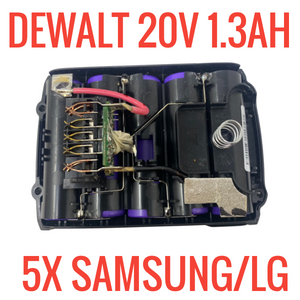 DEWALT DCB207 20V 1.3 AH 26WH for PARTS/REPAIR