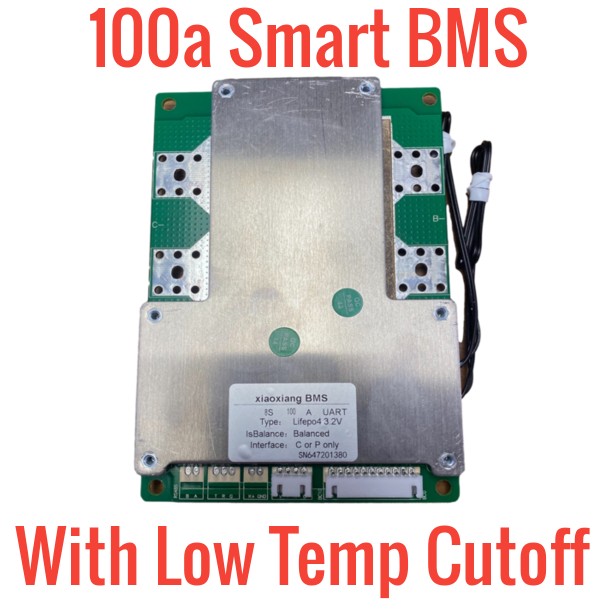Li-ion/Lifepo4 3s-20s 100a BMS W/ LOW TEMP CUTOFF