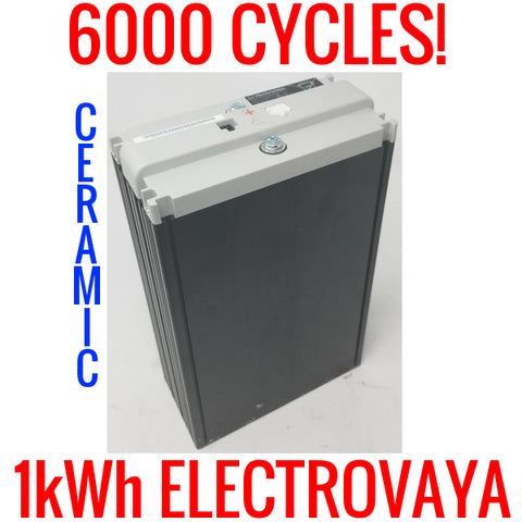6000 CYCLES LITHIUM ION POLYMER 12V BATTERY ELECTROVAYA 10.95V 80AH EV3S2P 1KWH