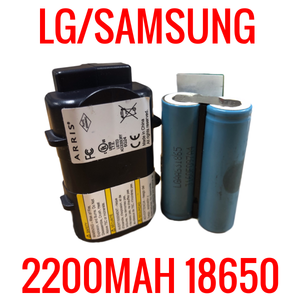 2 LG SAMSUNG SONY 18650 2200MAH CELLS MODEM BATTERIES