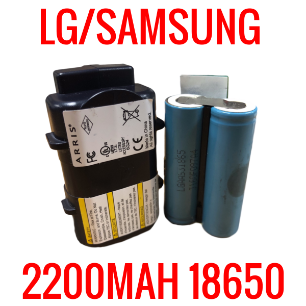 2 LG/SAMSUNG 18650 2200MAH CELLS MODEM BATTERIES
