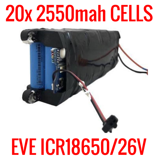 36v 5.1ah 183.6wh SCOOTER PACK WITH BMS