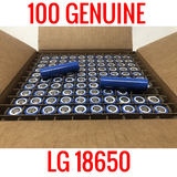 100 LG 18650 LGDAS31865 2200MAH Cells Capacity Tested 90% and up
