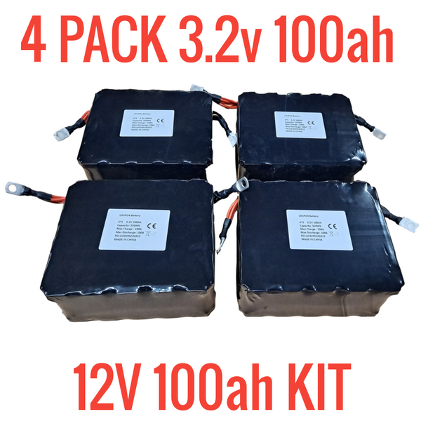 NEW CASE OF 4 BATTERY HOOKUP 3.2V 100ah MODULES