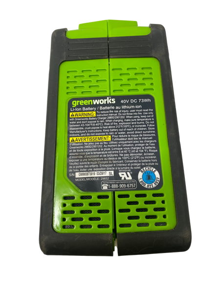 GREENWORKS 40V 73Wh 2.0 AH for Salvage