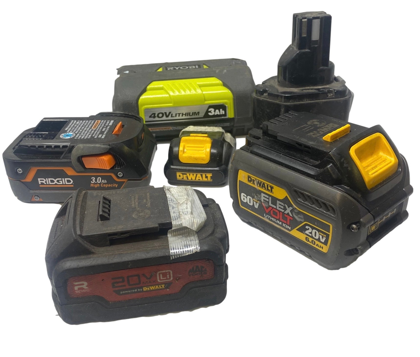 10 POUNDS OF MIXED TOOL BATTERIES - 50-60 CELLS