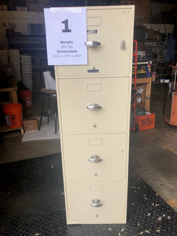 Fireproof Filing Cabinet #1 w/ Key