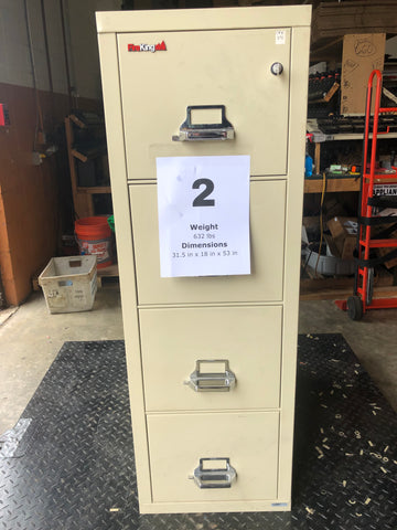 FireKing Filing Cabinet #2 w/ Key