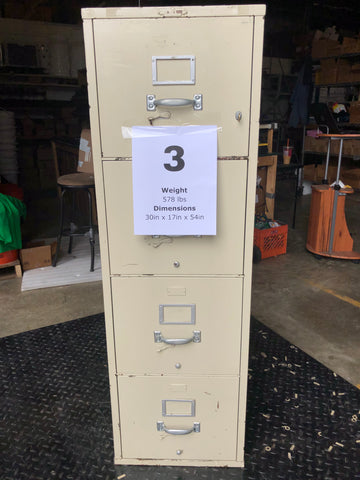 Fireproof Filing Cabinet #3 w/ Key