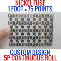 NICKEL FUSE 5P WIDE CONTINUOUS ROLL BY THE FOOT! 18650 CELL LEVEL FUSING