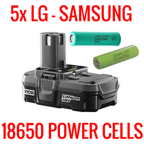 RYOBI P102 18V BATTERIES FOR PARTS/REPAIR