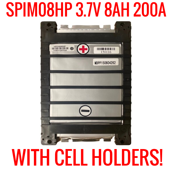 SPIM08HP 3.7v 8ah 200a LITHIUM ION W/ CELL HOLDER