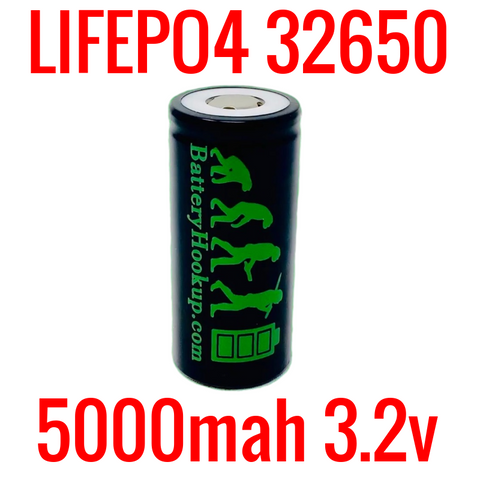 NEW BATTERY HOOKUP LIFEP04 32650 3.2V 5000MAH CELLS