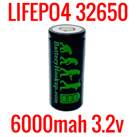 NEW BATTERY HOOKUP LIFEP04 32650 3.2V 6000MAH CELLS