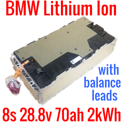 BMW OEM 8s 28.8v 70ah 2kWh with LEADS