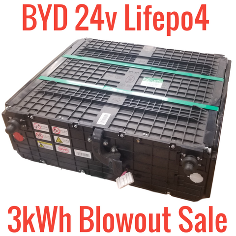 *BLOATED/UNBALANCED* BYD 24v 8s Lifepo4 3kWh BLOWOUT!