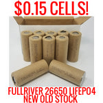 10 PACK! SALVAGE FULLRIVER LIFEPO4 3300MAH 26650 CELLS 26650FE