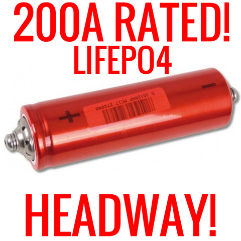 HEADWAY 38120 HP 3.2V 8AH LIFEPO4 LITHIUM BATTERIES 25C 200A SUPER CELLS