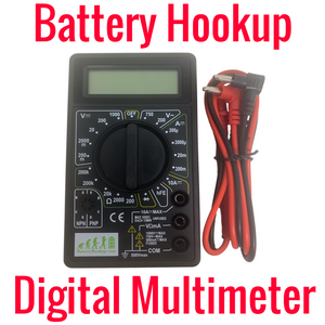 Battery Hookup Digital Multimeter w/ Battery Included