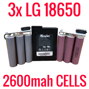 3 LG 2600mah 18650 Cells in Foxlink Modem Batteries