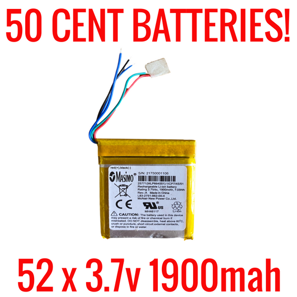 3.7v 1900mah Battery Lot for Salvage