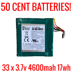 3.7v 4600mah 17wh Battery Lot for Salvage