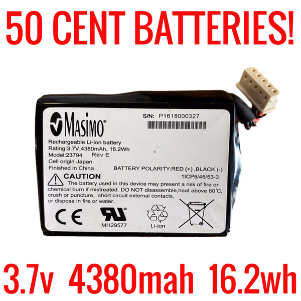 3.7v 4380mah 16.2wh Batteries for Salvage
