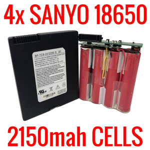 4 SANYO 2150MAH 18650 CELLS IN MODEM BATTERIES