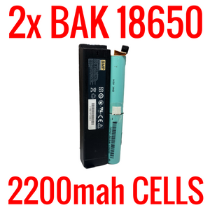 2 BAK 2200mah 18650 CELLS IN MODEM BATTERIES