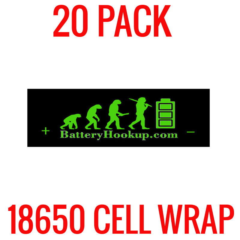 20 Pack Battery Hookup 18650 Cell Wrap