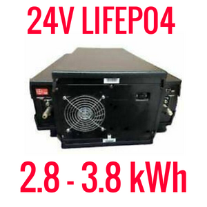 24V LIFEPO4 2.8-3.8 kWh BATTERY MODULES